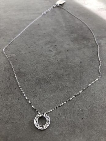 Naszyjnik celebrytka kolko z cyrkoniami srebro 925 szybka wysylka