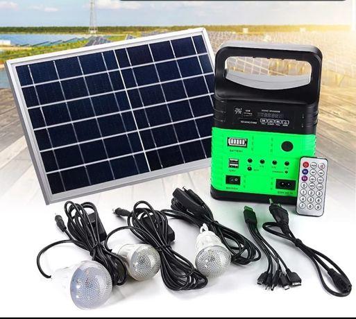Estação de energia portátil com painel solar bateria recarregável