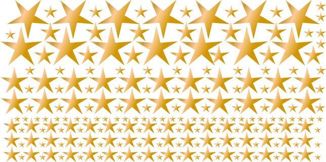 Różowe złote gwiazdki, zestaw 200 sztuk, naklejki na ścianę, meble