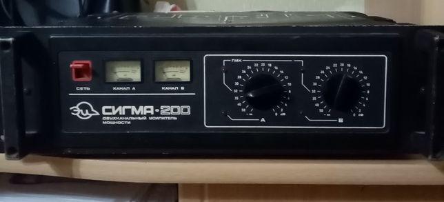 усилитель мощности сигма 200