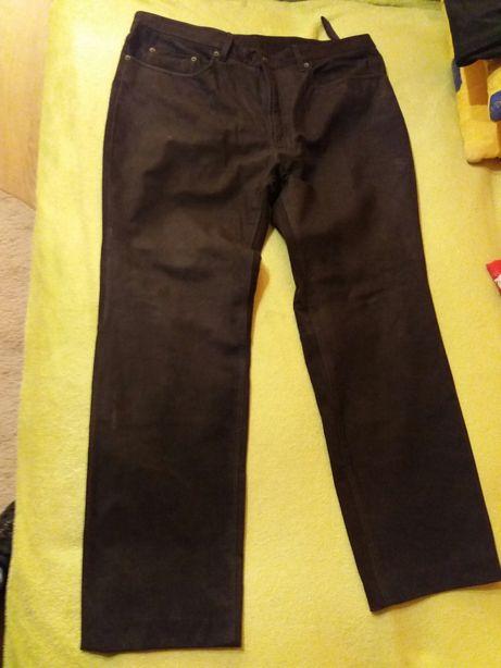 Spodnie skorzane meskie