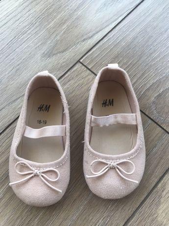 Balerinki dziewczęce Buty Baletki H&M rozm rozm 18-19 j Newbie