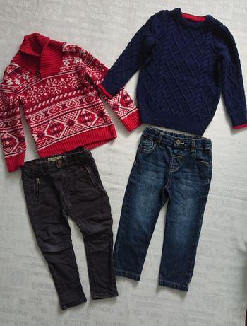 Крутые джинсы + свитера, джинсовый комбинезон Topolino 2-3г