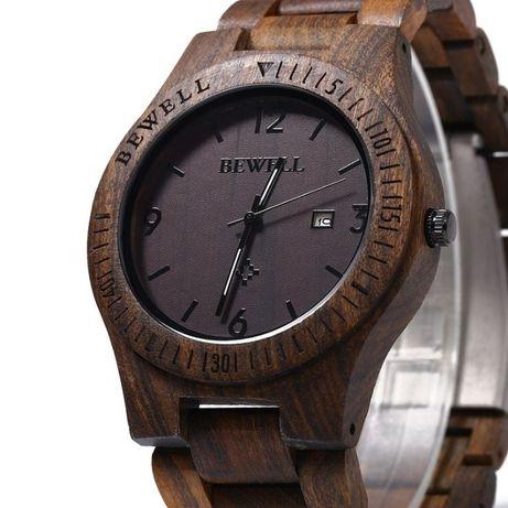 Drewniany zegarek na Bransolecie Bewell Brace. GWAR. Nowy. Firma