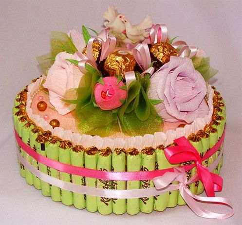 Торти із шоколадних цукерок
