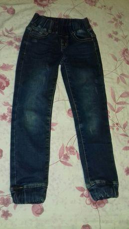 Тёплые джинсы на девочку