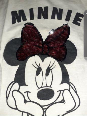 Conjunto t-shirt +leggins  minnie e unicórnio