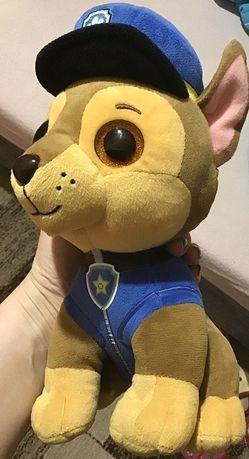 Щенячий патруль глазастик гонщик чейз мяка іграшка Ty, великий 25 см