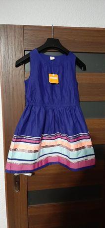 Nowa chabrowa sukienka 12 lat wzrost 152 cm