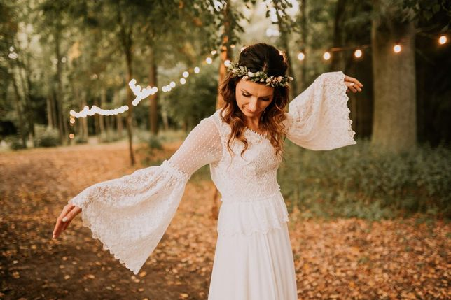 Suknia ślubna, boho, retro, rustykalna