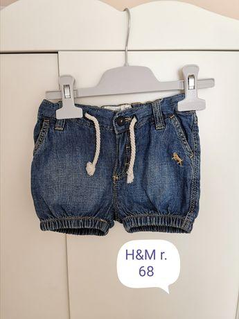 Krótkie spodenki r68 H&M