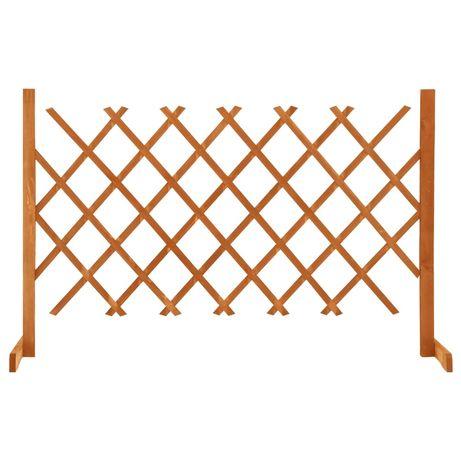 vidaXL Vedação em treliça para jardim 120x90 cm abeto maciço laranja 314824
