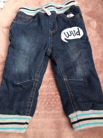 Ocieplane spodnie Joggers 74 cm