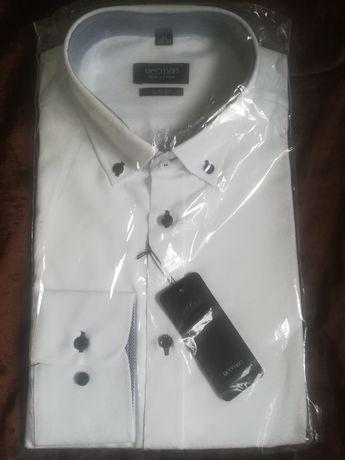Koszula męska biała, Recman, rozm 42 (188/194) slim fit