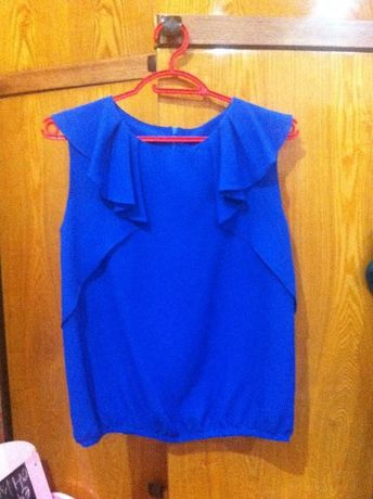 нарядная блузка синего цвета