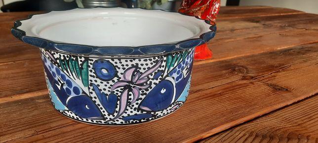 Donica doniczka  miska ręcznie malowana ryby styl włoski