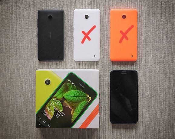Nokia Lumia 630 DS + крышка как новая +стекло. Разбит экран.