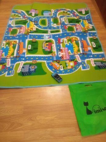 Игровой термоковрик для ребёнка Дорога Игровой коврик для детей ковер