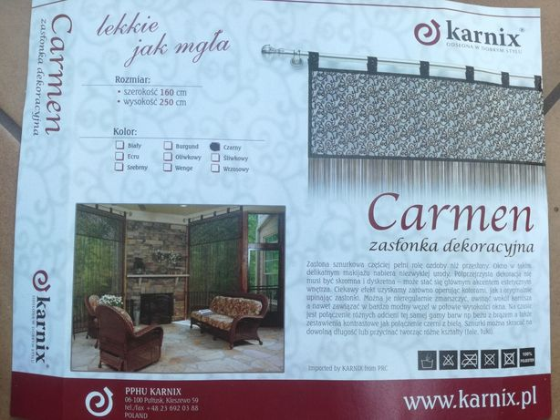 "2 x Firanka dekoracyjna ""Makaron"" Karnix (160x250 cm)"