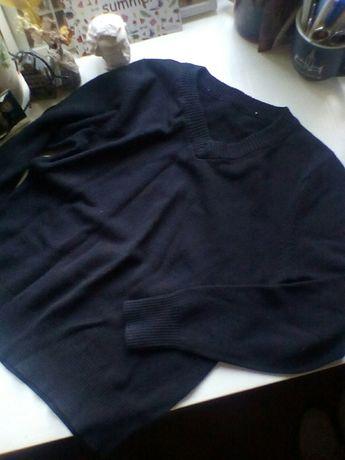 Джемпер темно-синий, очень хорошо в школу под рубашки, р 128-134