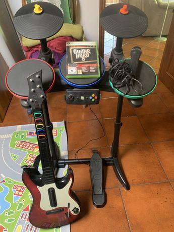 Kit Band Hero + Guitar Hero 5 Xbox360