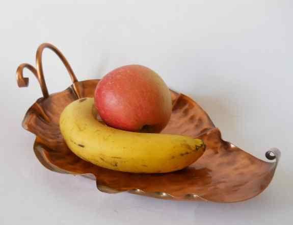 Большая фруктовая ваза из меди от Gregorian Copper