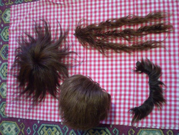 Парик Корея новый, шиньон, коса и гривка челка из натуральных волос