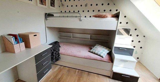 Nowoczesne meble dziecięce / młodzieżowe z łóżkiem piętrowym