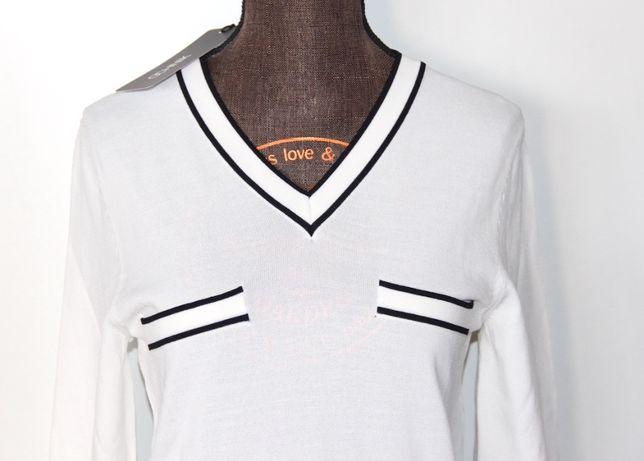 OCHNIK biała bluzka sweter 34 s liu jo levis guess kors hilfiger olsen