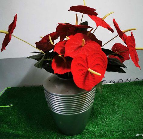 Vaso com planta arteficial