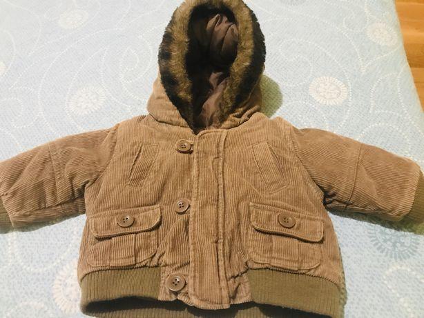 Курточка вельветовая осень весна 3-6 месяцев