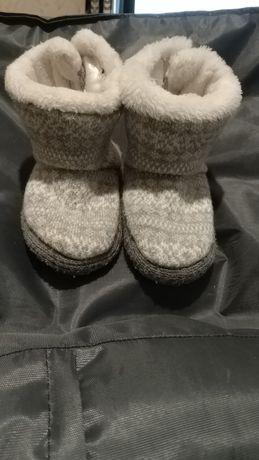 Теплые тапочки валенки для малыша