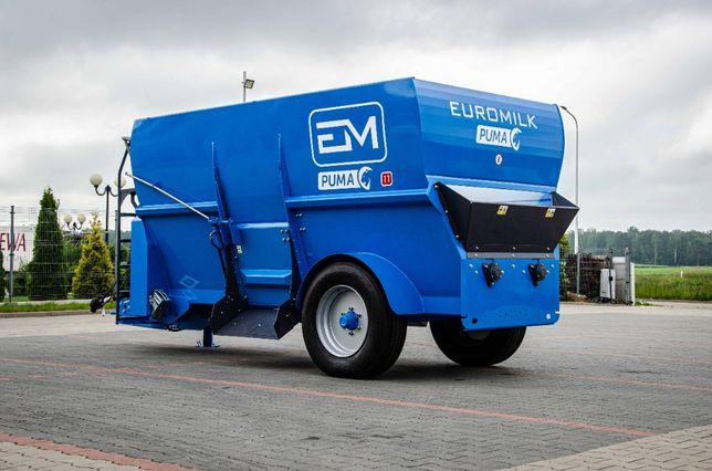 Wóz paszowy paszowóz poziomy EUROMILK PUMA 11 (11m3)