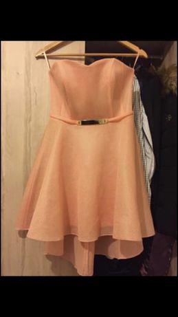 Sukienka mini piankowa