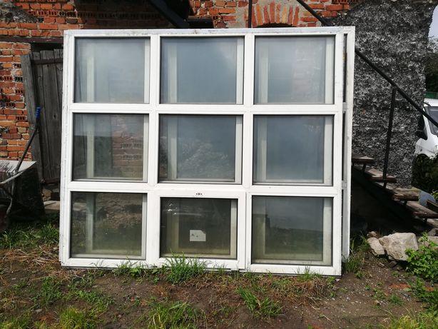 Okno plastikowe do hali, wiaty, magazynu 240/270 okna