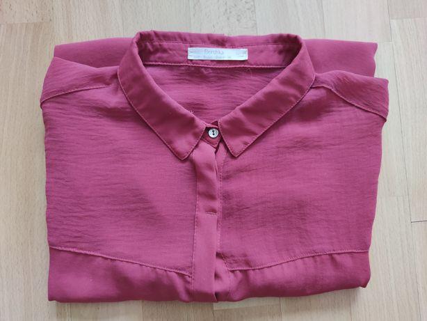 Zwiewna koszula Bershka 26 S 36 bordowa buraczkowa fuksja
