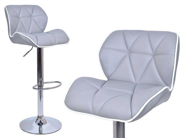Krzesło barowe wygodny hoker ROSSI szary do kuchni jadalni