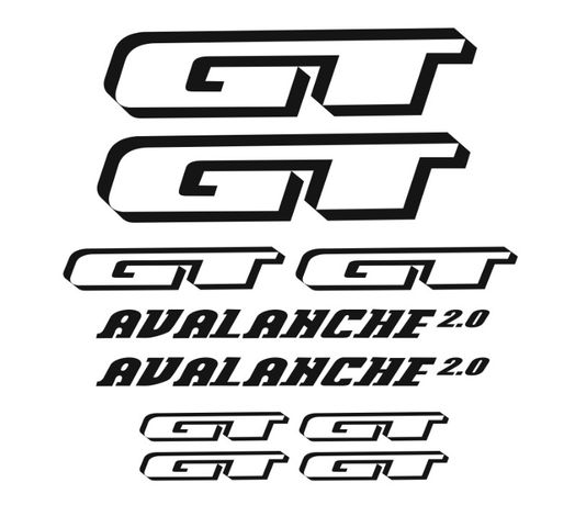 Gt Avalanche kit autocolantes bicleta