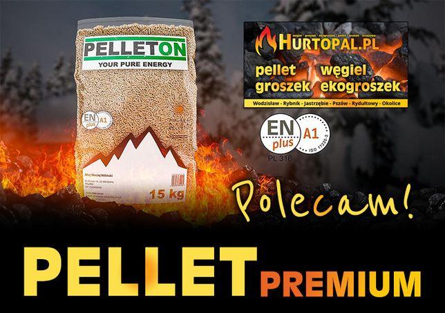 Pellet PELLETON EN PLUS, A1 ISO 17225-2, Worek 15kg - Rydułtowy