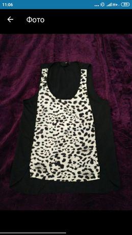Блузка , кофта, футболка шифоновая в леопардовый принт