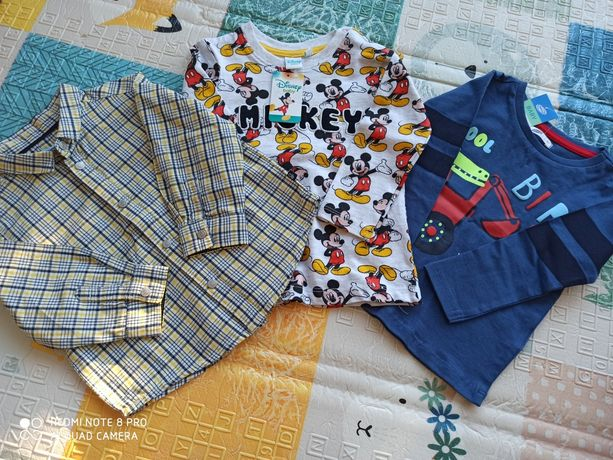 Bluzki dla chłopca 74-80