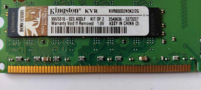 Pamięć RAM DDR2 800MHz firmy KINGSTON - 6 GB - Gratisy !!!