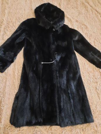 Норкова шуба ( длинная норковая шуба) 48 розміру