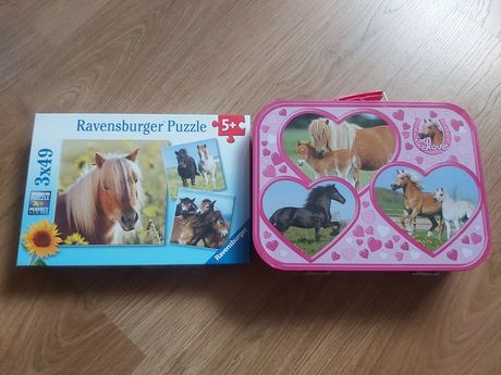 Puzzle konie walizka 26, 48, 49 elementów