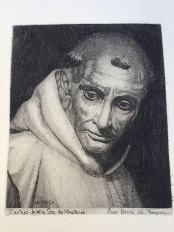 Litografia séc XIX arte Sácra Cartuja