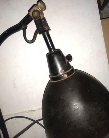 Lampa warsztatowa kreślarska stołowa przykręcana PRL