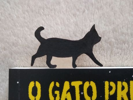 (PORTES GRÁTIS) Marcador de livro personalizável pintado à mão - Gato