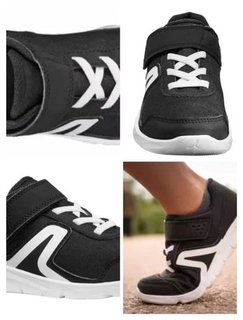 Buciki sportowe rozm 30 18,5 cm buty adidaski czarne biała podeszwa