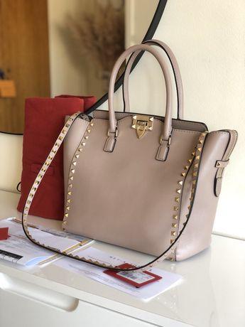 Mala Valentino The Rockstud medium leather tote