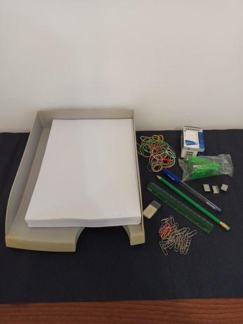 Держатель для бумаги школа А4 степлер лоток для бумаги канцтовары